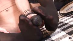 Small titted beauty sicilia masturbating in tie and stocking