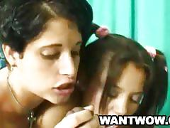 Young lesbians debby and amy sharing a black dick