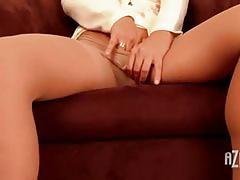 One hot milf alischa enjoys masturbation in here!