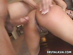 Asian bitch mika kani rough sex with a big cock