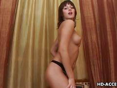 Sexy brunette lillike hardcore dildo show