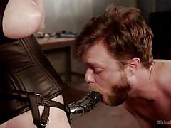 milf, tattoo, blonde, whip, femdom, mistress, strap on, slave, face fuck, divine bitches, kink, aiden starr, mike panic