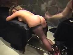 Chubby ass spank