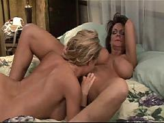 Mature woman seduces younger - sensual - strap-on - part 2