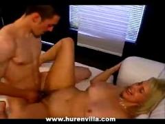 Blonde milf in 1st time hardcore film does a younger guy!