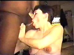 Pregnant white wife gets fucked by two black cocks