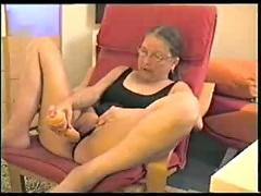 Granny loves masturbating