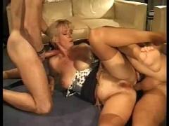 German mature threesome.