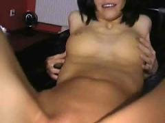 Wife plays with her wet pussy