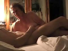 My silly aunt play with my cock. hidden cam