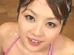 Cute japanese slut getting fucked in bukkake