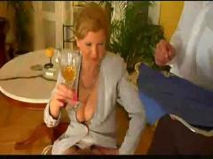 First class mature lady fucked by lucky waiter