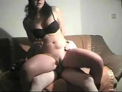 Homemade video of cute couple
