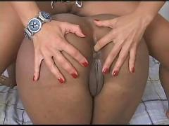 White euro girl abuses black usa girl - oz