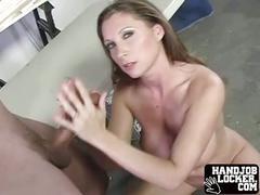 Big tit amateur handjob