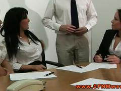 Cfnm femdom office skanks want to see dude jerk