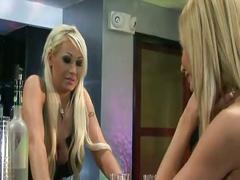 Big tits blonde lesbians