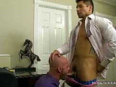 The new guy fucks his hot boss