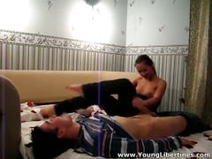 Young couple love wild hardcore sex