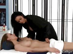 big boobs, brunette, lesbian, babe, massage, masturbation