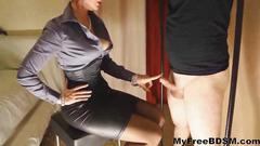 Governess quinn controls her slave bdsm bondage...