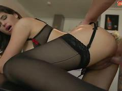 Milf in sexy lingerie wants cock without stopping