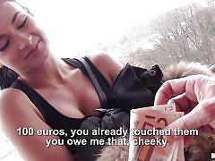 babe, money talks, brunette, undressing, pov, public pickup, tits flash, public pickups, mofos network, keira x