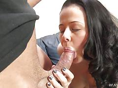 Nasty slut loni rides bouncing up and down on his shaft