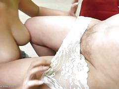 hairy, lesbians, mature, old young, busty, pussy licking, short haired, pov, tits licking, old and young lesbians, mature nl, izabelle, aleksa