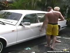 Andre and joey carwash anal sex
