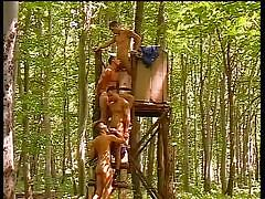 Four hunks gets wild in the woods