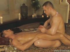 Erotic massage turned gay anal sex