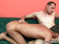 Steamy raw anal fucking action