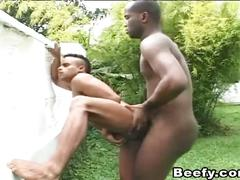 Sticky cum shooting for thick black cocks