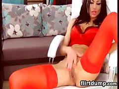 Hot webcam slut in red