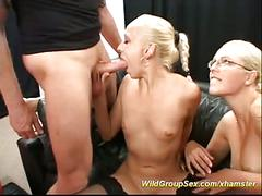 Bukkake party with german lesbians