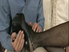 Bad ass babe foot fetish