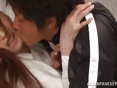 Sexy japanese teacher is fucked by a student