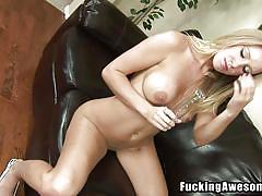 tattoo, blonde, big tits, babe, solo, masturbation, light bulb, will she explode, fucking awesome, allison pierce