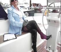 Granny jasmine sells a boat with a blowjob