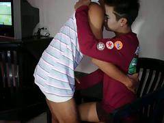 Horny and smooth asian kissng and sucking