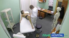 Fakehospital hot girl with big tits gets doctors...