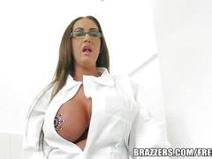 Slut with huge tits pounded hard