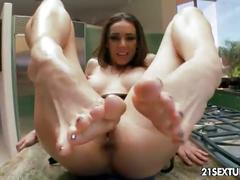 Feasting from her feet