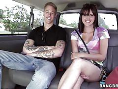 Naughty ass chick in the bang bus