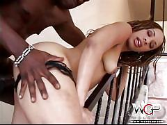 Hot ass black bitch fucked on stairs