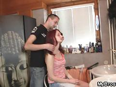 Slutty girlfriend cheats with her hairdresser