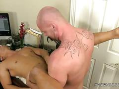 Horny boss fucking his hot worker