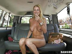 Blonde banged in bus