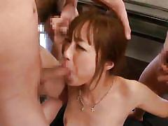 Japanese slut can't get enough penises
